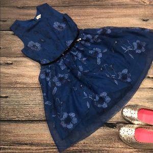 Blue floral Shimmer Dress!